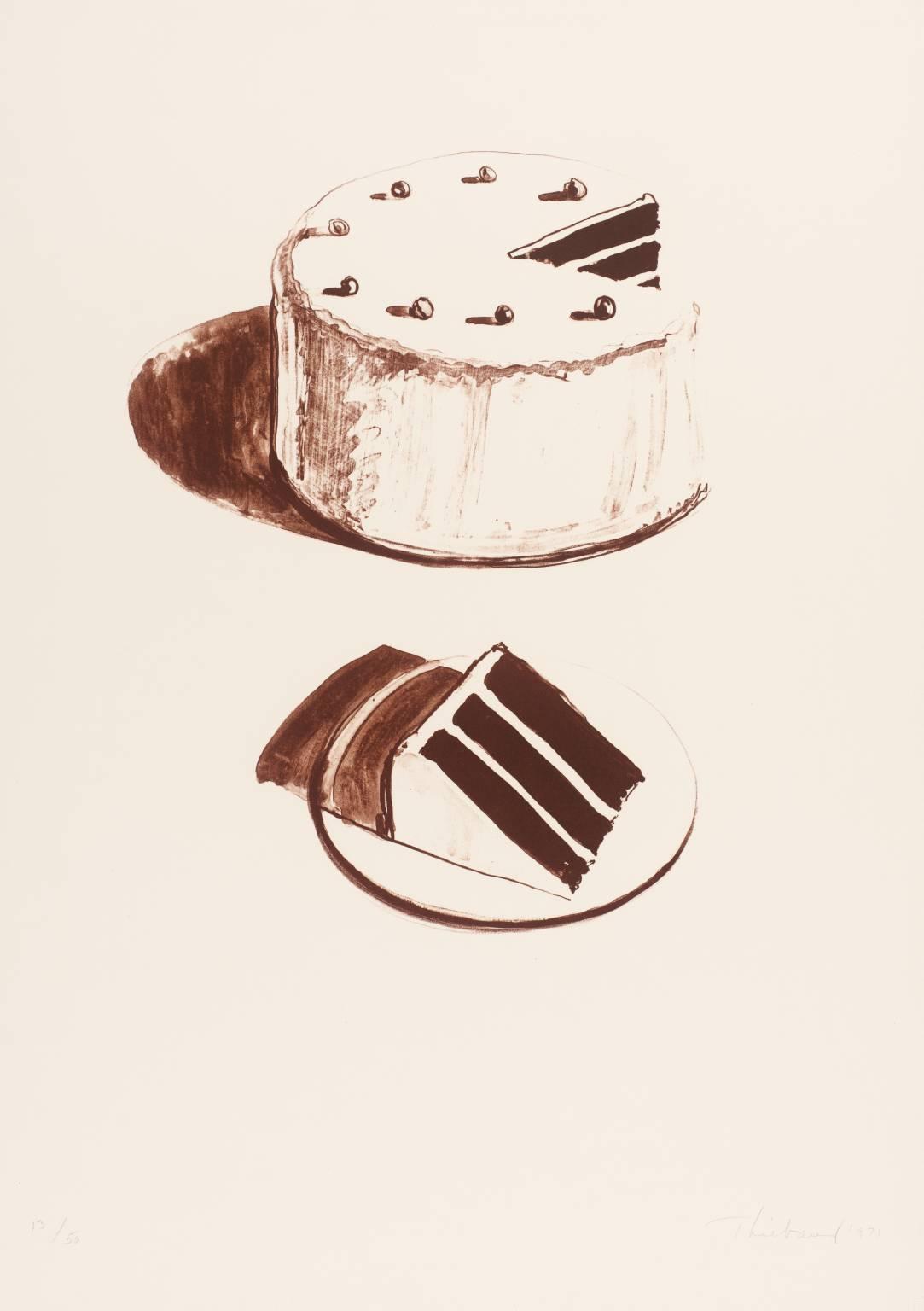 Chocolate Cake 1971 by Wayne Thiebaud born 1920